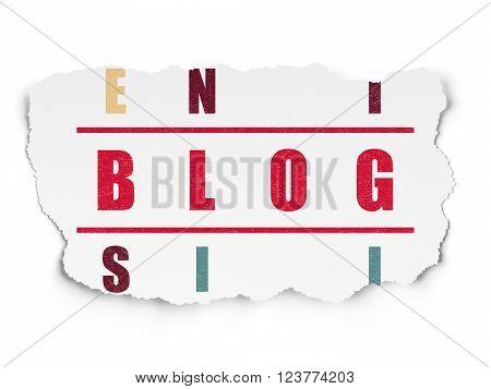 Web design concept: Blog in Crossword Puzzle