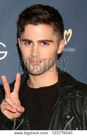 LOS ANGELES - MAR 29:  Max Ehrich at the High Strung Premeire at the TCL Chinese 6 Theaters on March 29, 2016 in Los Angeles, CA