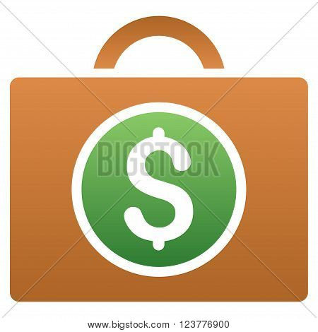 Bookkeeping vector toolbar icon for software design. Style is a gradient icon symbol on a white background.