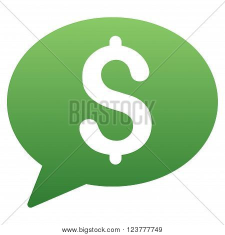 Money Transaction Balloon vector toolbar icon for software design. Style is a gradient icon symbol on a white background.