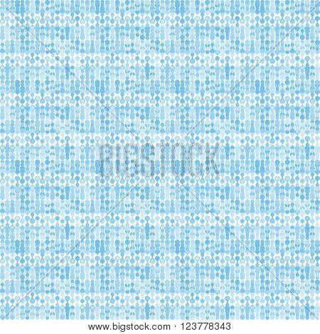 Bluish striped stylized knitting metaball seamless pattern.