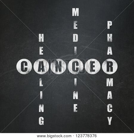 Health concept: Cancer in Crossword Puzzle