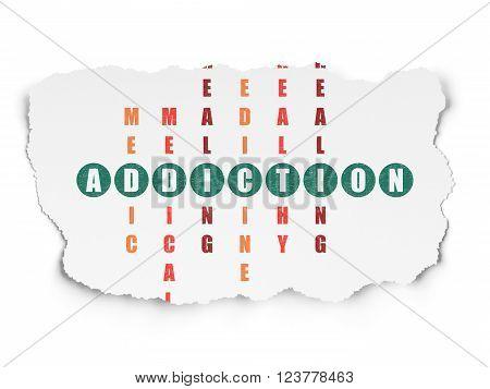Healthcare concept: Addiction in Crossword Puzzle