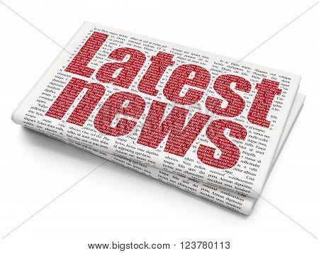 News concept: Latest News on Newspaper background