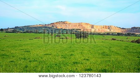 quarry in a green landscape in Italy