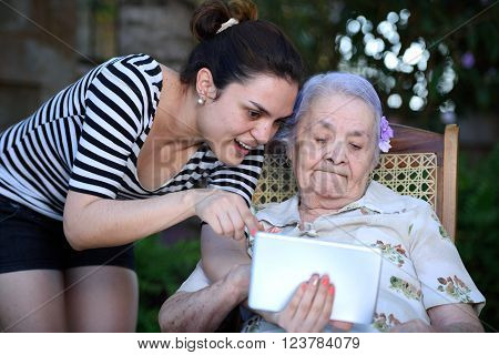 Grandma Watch Into Tablet