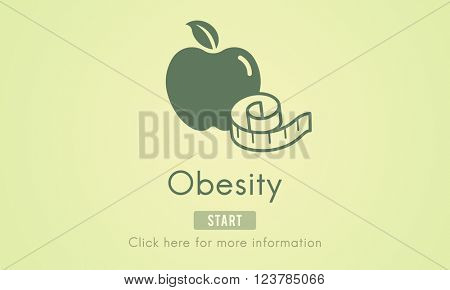 Obesity Diet Eating Disorder Unhealthy Diabetes Fat Concept