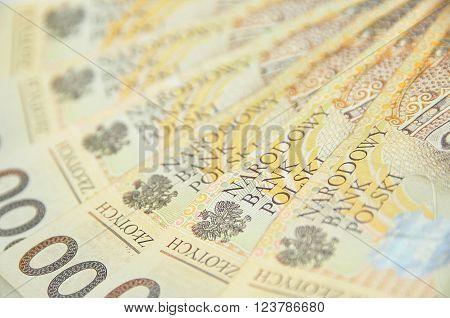 200 Pln Notes Spread Like A Fan