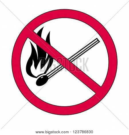 No fire vector sign danger vector illustration