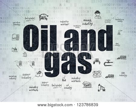 Industry concept: Oil and Gas on Digital Paper background