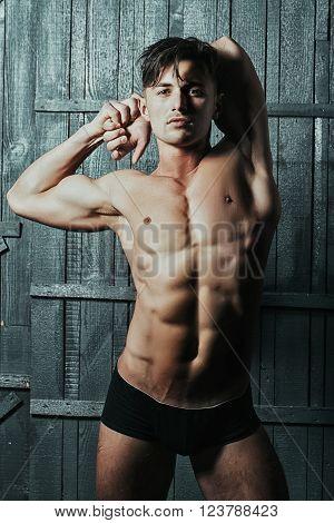 Beautiful Sensual Athlete Man