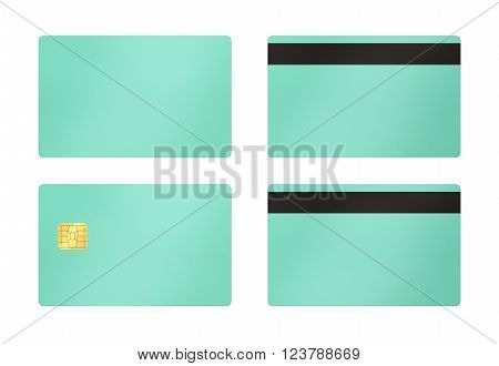 Green Card With White Background