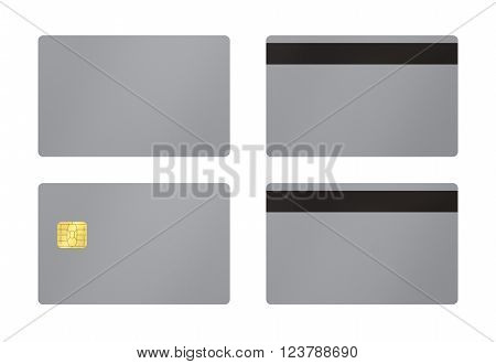 Grey Card With White Background