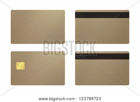 Champagne Gold Card With White Background