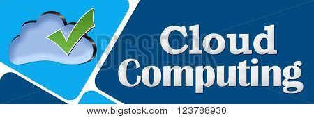 Cloud services concept image with text and cloud symbol.
