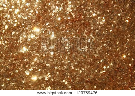 vector tinsel texture, realistic background of gold particles