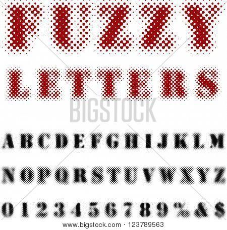 original vector dotted raster font