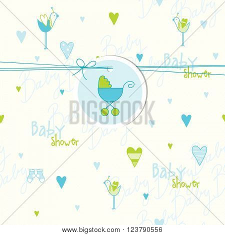 Cute baby shower card with pattern