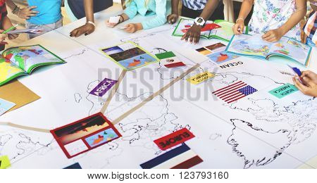 Geography Worldwide Explorer Continent Country Concept