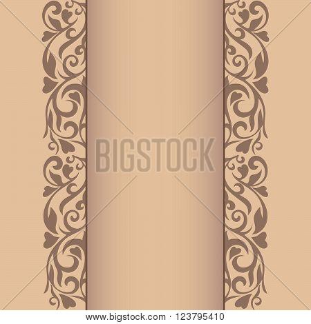 Abstract border. Vintage background. Ornamental dividers. Vintage design. Floral border. Vector illustration