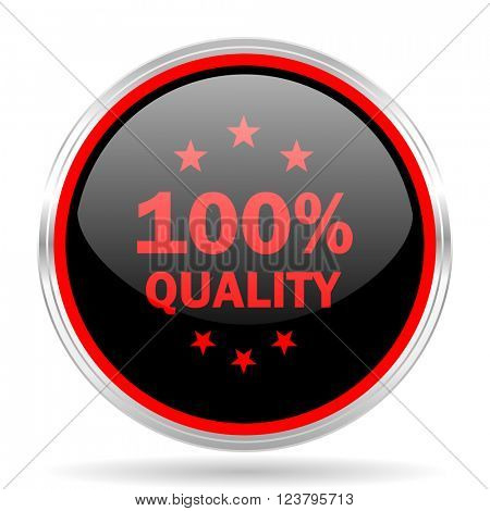 quality black and red metallic modern web design glossy circle icon