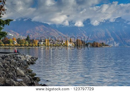 Amazing panorama of Vevey, canton of Vaud, Switzerland