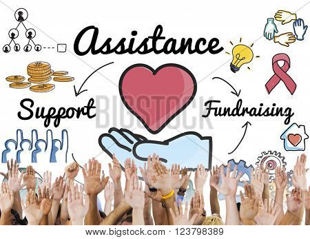 Assistance Aid Help Support Partnership Teamwork Concept