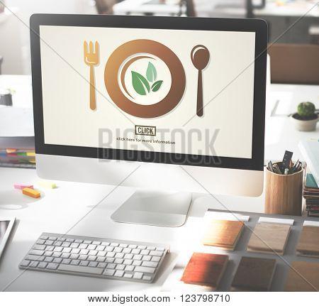 Menu Dish Restaurant Service Setting Concept