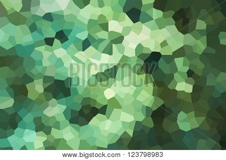 Green Crystallize Abstract Background In Soft Pastel Colour Tone