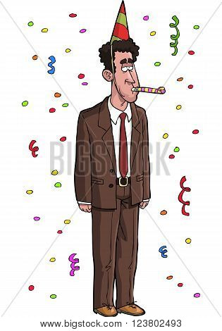 Dull tax agent on a white background vector illustration
