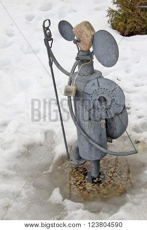 Sigulda, Latvia - March 17, 2012: Knight Of The Sculptural Group Parade Of The Knights - Tiny Sculpt