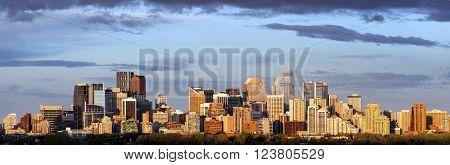 Panoramic view of Calgary. Calgary Alberta Canada