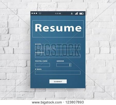 Resume CV Recruitment Employment Concept