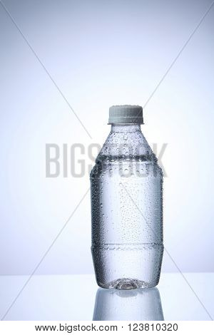 bottle of water with condensation
