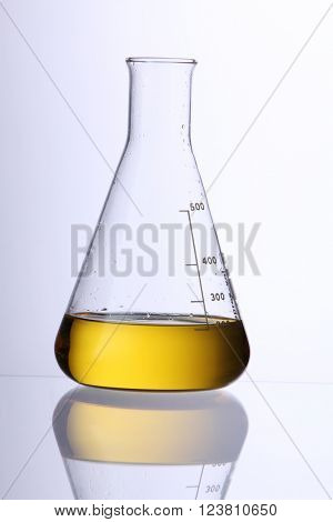 bio fuel in a glass beaker