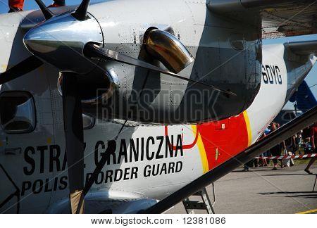 RADOM POLAND - AUGUST 31: Polish border guard. International Air Demonstrations AIR SHOW 2009. August 31, 2009 in Radom, Poland.