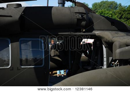 RADOM, POLAND - AUGUST 31: Blackhawk s-70. International Air Demonstrations AIR SHOW 2009. August 31, 2009 in Radom, Poland.