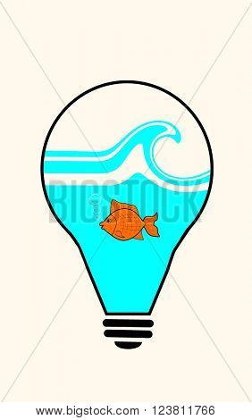 Fish in light bulb