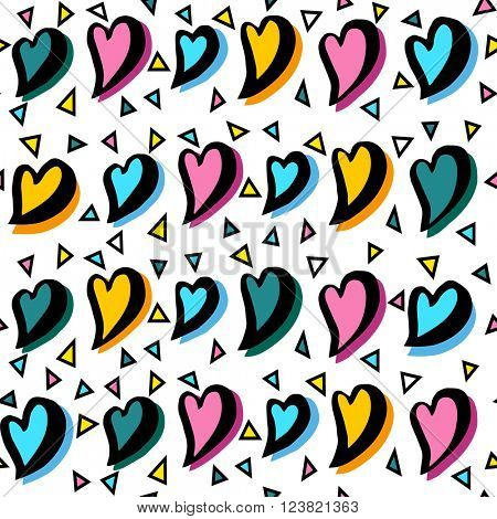 Abstract seamless heart pattern