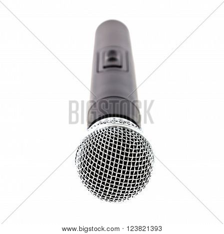 A microphone wireless on white background, microphone concept, microphone isolated, microphone studio.