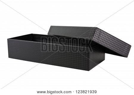 A luxury balck box on white background