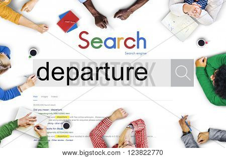 Departure Departing Depart Going Leaving Travel Concept