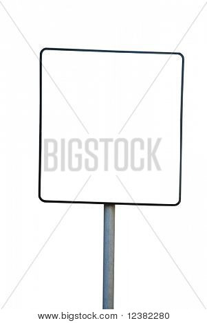 billboard isolated on white background