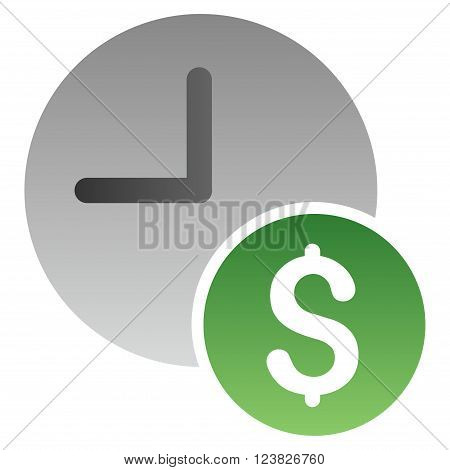 Recurring Payments vector toolbar icon for software design. Style is a gradient icon symbol on a white background.