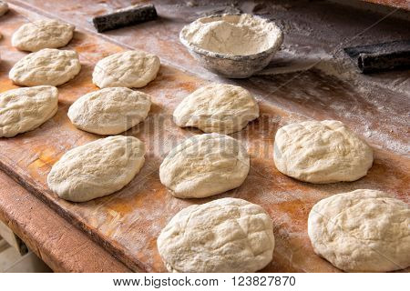 Making Fresh Bread In A Bakery