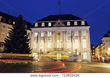Bonn Rathaus at night. Bonn North Rhine-Westphalia Germany