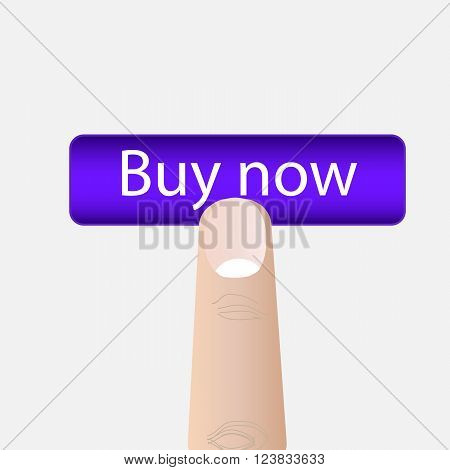 Buy now button. Vector illustration EPS 10
