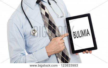 Doctor Holding Tablet - Bulimia