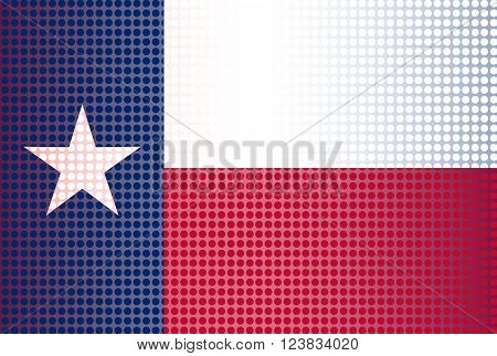 The flag of the USA state of TEXAS with dot overlay