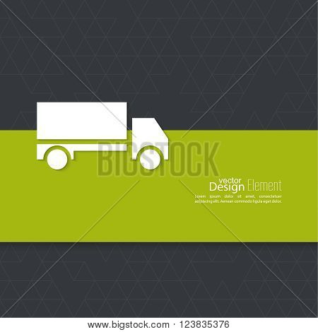 Freight transport. Concept delivery service. Truck delivers the goods.